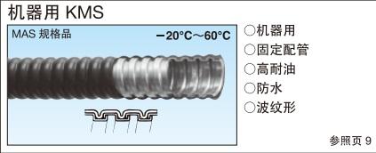 日本工业 三桂 sankei 电线保护管 KMS型 可挠金属软管