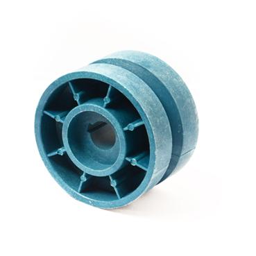 组装线顶升移栽机蓝色尼龙托轮80*17  主动轮