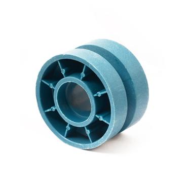 组装线顶升移栽机蓝色尼龙托轮80*35  从动轮