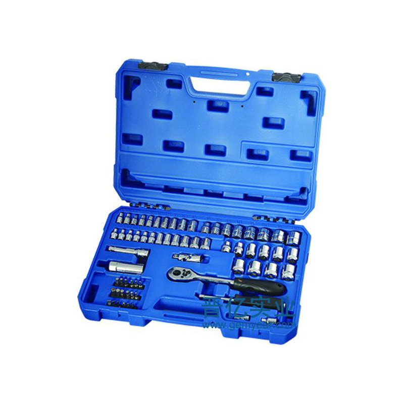 65件6.3X10MM系列共英制套筒组套  货号09011