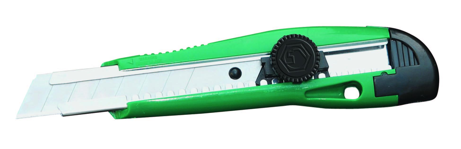 塑柄旋钮美工刀8节18X100MM