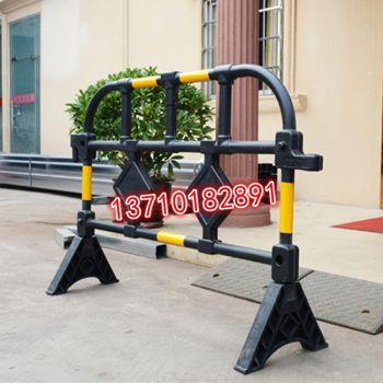 塑料护栏1.4米胶马护栏黄黑塑料围栏移动市政施工隔离栏,四海